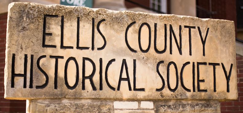 Ellis County Historic Society Sign