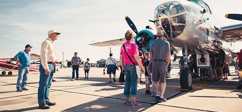 Hays Regional Airport Fly In Historic Plane