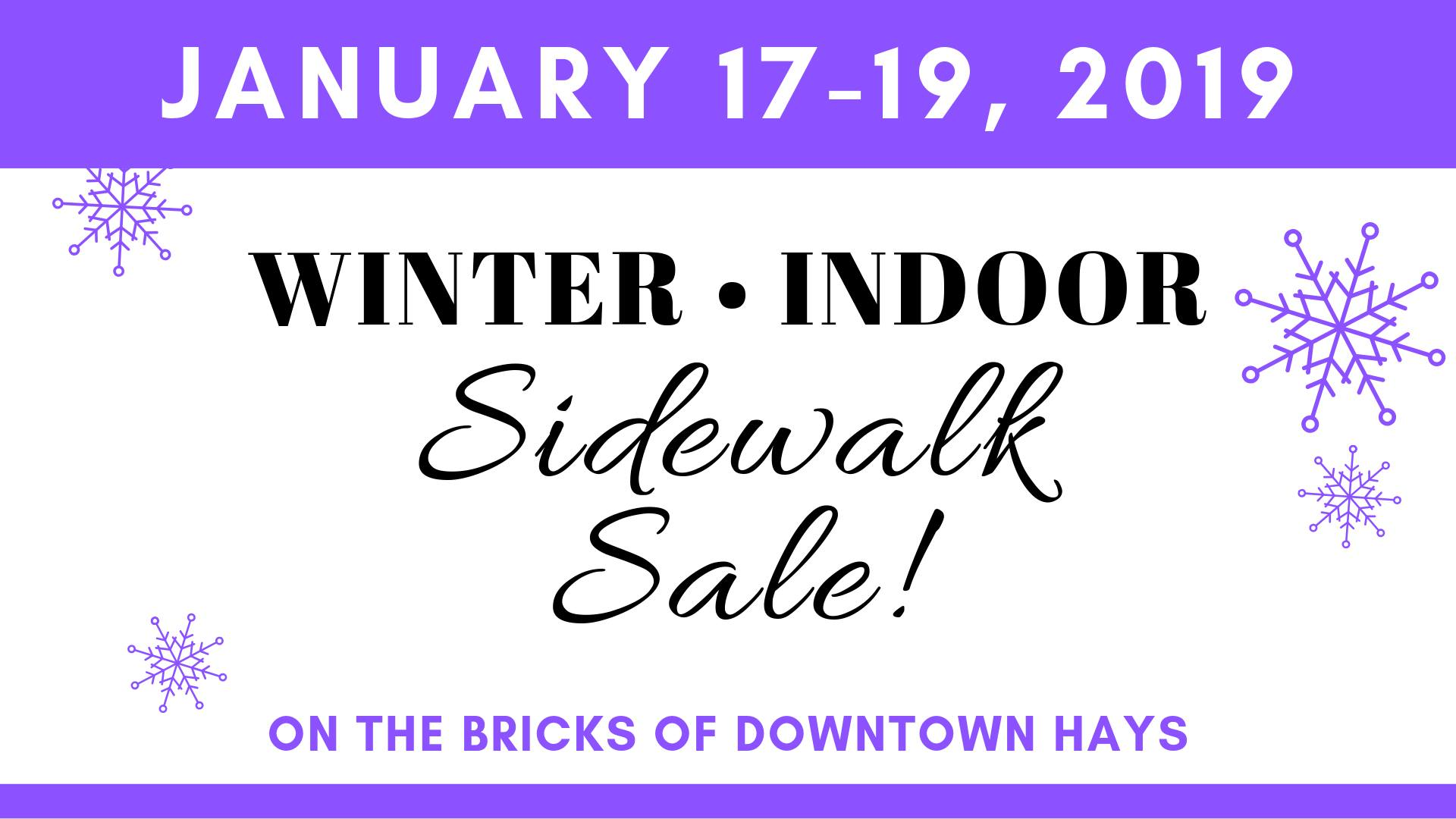 winter sidewalk sale downtown