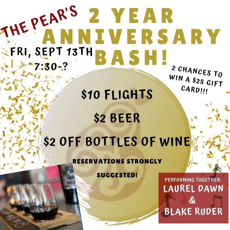 Paisley Pear 2nd anniversary