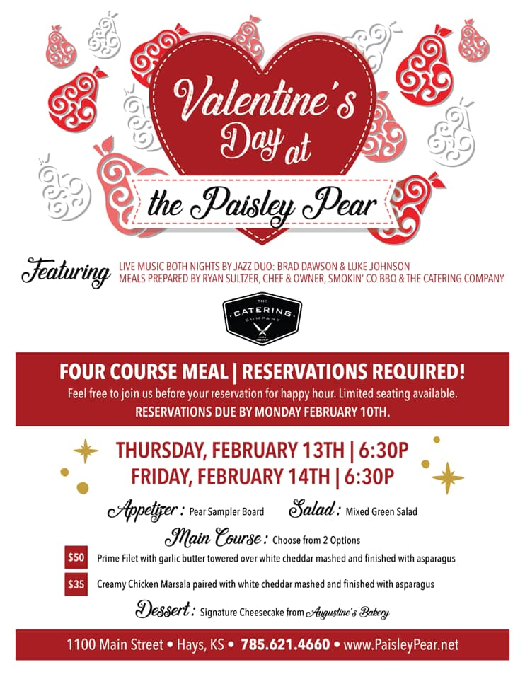 valentines at the paisley pear