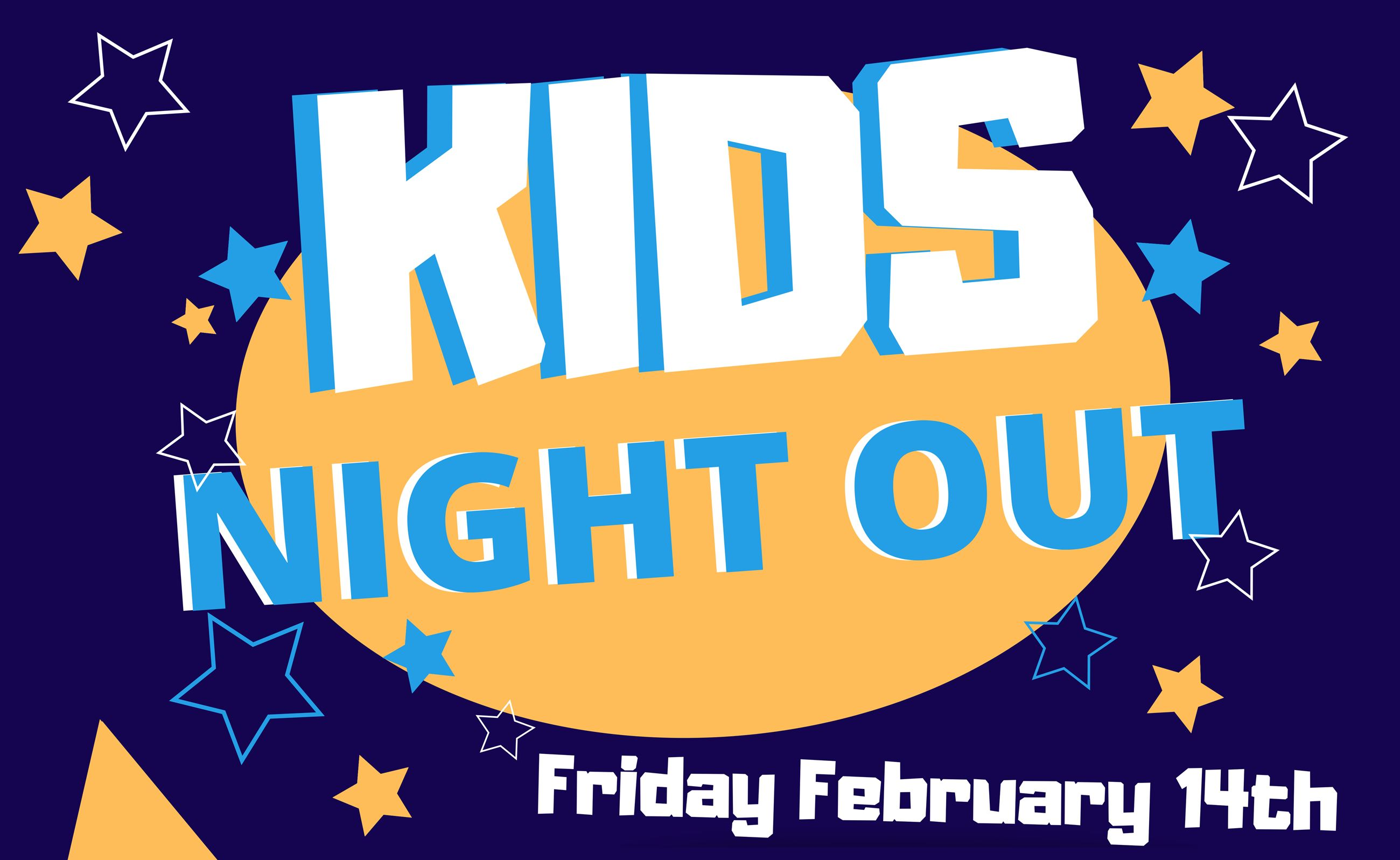 Kids Night Out Valentines day flyer