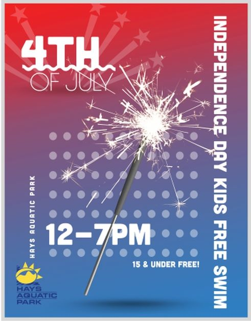 Kids Swim FREE July 4th
