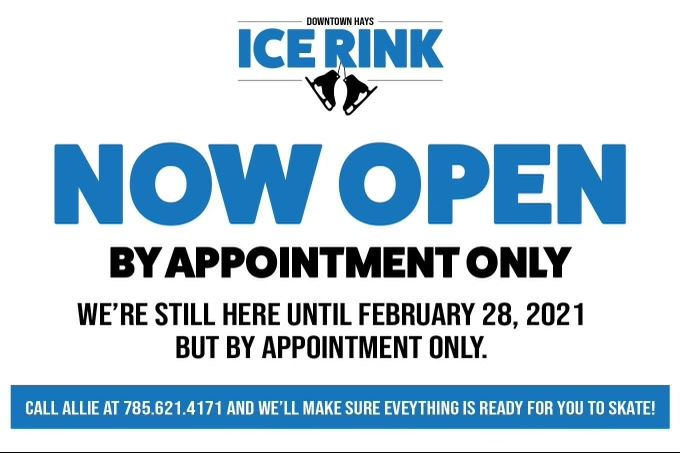 Ice Rink Update By Appointment Only